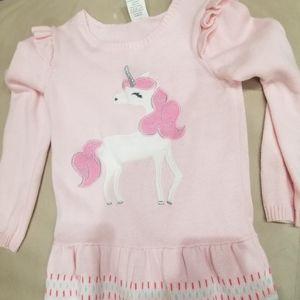 Girls Unicorn Gymboree Dress- Size 5T